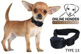 Trillende Anti blafband speciaal voor kleine (2kg) en middelgrote honden ohs 13