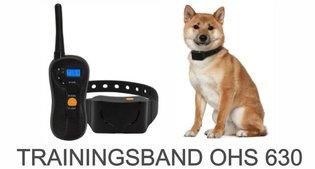 Trainingsband type OHS 630 voor (kleine tot grote) hond 600 meter, zwemwatervast, 16 levels instelbaar voor trillen en geluid.