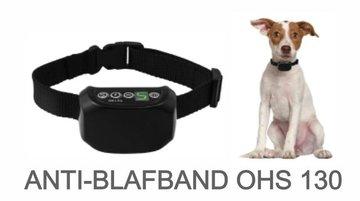 Anti blafband hond oplaadbaar spatwaterdicht   met trillen en stroom - OHS 130