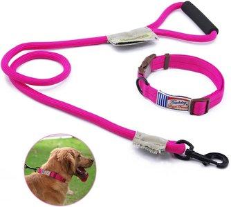 Touchdog riem en band m roze