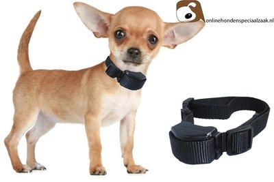 Trillende Anti blafband speciaal voor kleine (2kg) en middelgrote (40kg) honden type 13.