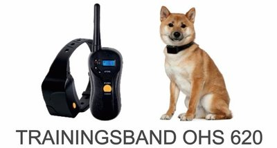 Trainingsband type 620 voor hond 600 meter, zwemwatervast, 16 levels instelbaar, geluid schok en trillen